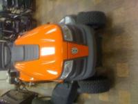 we have a husqvarna yth20k46 riding lawnmower for sale.