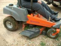 Husqvarna zero-turn mower Z4219. Runs and cuts well.