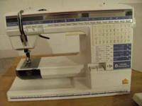 This is a computerized sewing/embroidery machine that