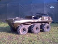HUSTLER AMPHIBIOUS ALL TERRAIN VEHICLE. THE HUSTLER IS