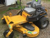 "Hustler Raptor SD 60"" Zero Turn Mower has less than 15"