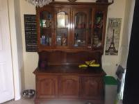 hutch china cabinet available for sale. minor scrapes