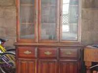 $150 or best offer. This china hutch is about 35 years