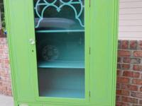 Great Vintage Hutch redone in contemporary colors and