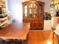 I have a beautiful Table and matching Hutch for sale.