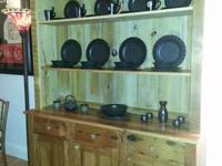 Hutch with Drawers/Cabinets/Shelves in server base from