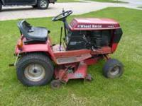 "I have a mid-1980's Wheel Horse 38"" lawn mower. Motor"