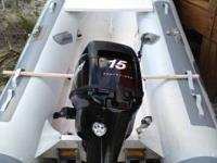 Hypalon RIB 310  Beach Wheels mounted on Transom  Easy