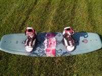 Used very seldom, Hyperlite 143CM Wakeboard with XL