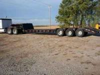 1981 Hyster, Triple axle lowboy trailer, Fixed Neck, 6