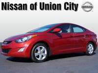 You can't go wrong with this red 2012 Hyundai Elantra
