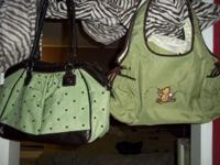 Hello i have these 2 adorable diaper bags can be used