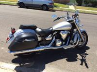 2008 Silver Yamaha V-Star 1300 has the size, comfort