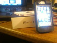 I phone 4 8g through AT&T  Comes with original box,
