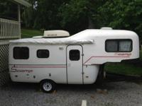 19 foot camper, that can be towed either as a 5th wheel