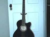 Ibanez AEB10 BK acoustic electrical guitar with