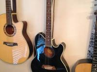 Ibanez Talisman Acoustic electric guitar with case,