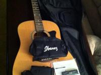 Ibanez IJV50-NT guitar bundle. Comes w/ guitar picks,