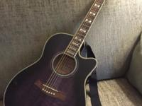 Barely used, just like new PURPLE Ibanez Acoustic