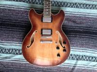 For sale is an Ibanez AS73, semi-hollowbody, electric
