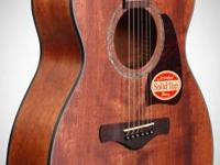 Lovely art wood Ibanez acoustic guitar with marble