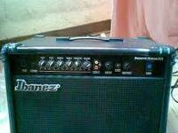 Hey i have a lightly used Ibanez bass amp that i bought