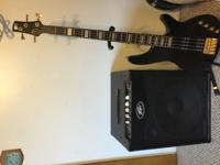 Ibanez SRX 300 Black Bass with gold hardware. Peavey