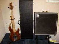 For sale bass guitar package, three year old Ibanez ATK