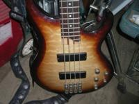 Beautiful Ibanez Bass, excellent opportunity. Comes