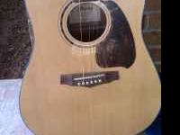 Ibanez six string electric acoustic guitar, model