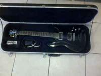 Black Ibanez electric Guitar with strap, strap locks,