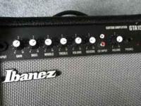 15 watt Ibanez guitar amp. Has built on distotrion and