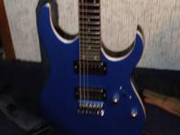 Ibanez RG Series pellum blue. All new electronics and