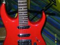 I have a gorgeous red Ibanez RX series 160 HHS