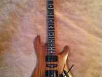 Ibanez S470 electric guitar, mahogany body with natural