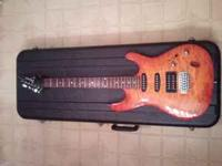 Selling a used Ibanez S Series guitar with hard shell