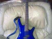 Ibanez SoundGear Bass Guitar. Jewel Blue with matching