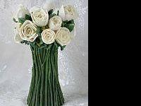 THE ROSE CANDLESTICK SET IN BEAUTIFUL IVORY! Matches MY
