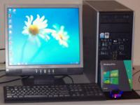 $100 IBM Desktop computer with monitor that is not flat