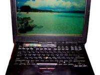 This IBM Thinkpad is in good condition; no cracks,
