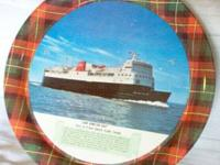 Serving Tray with a picture of the ICE BREAKING FERRY