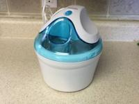 Selling ice cream maker that I've only used once. It's