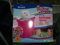 I have a Rival Treat Shoppe Electric Ice Cream Maker