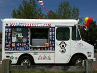Enjoy the old fashioned ice cream truck filled with