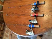 "3 - Frabill Ice Hunter 24"" UL Rods .  2 of them have"