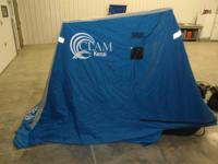 fish trap clam kenai one man hut with rope light and