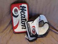 I AM SELLING AN ICE HOCKEY GOALIE BLOCKER AND GLOVE. IT