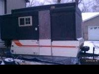 I am slelling my ice house made from pop up camper. it