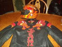 FOR SALE IS A ICON LEGION MOTORCYCLE JACKET SIZE(