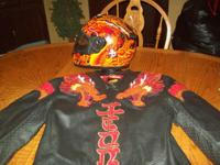 FOR SALE IS A ICON LEGION MOTORCYCLE JACKET SIZE( L)